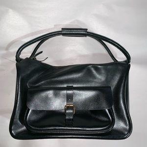 auth  MIU MIU Black Calfskin ZIP TOP shoulderbag
